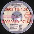(5000PCS / disk) RC0603FR-071K5L Chip Resistor 0603 1% 1.5K 18B