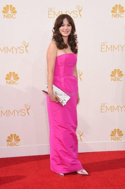 Платья знаменитостей известный длинный элегантный фуксии оскар платье для женщин ну вечеринку новое поступление