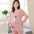 Pregnant women cotton pajamas postpartum out home nursing maternal lactation breastfeeding clothing suits spring sleepwear
