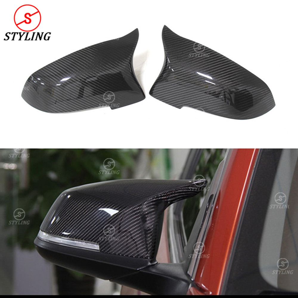 For BMW 5 6 7 Series F12 F13 F06 Rear Side View Mirror Cover Replacement F10 Carbon Fiber Mirror Cover M Look Gloss Black 2014+ dual slats abs front grille for bmw m series f06 f12 f13 m6 2012 2013 2014 2015 on glossy black finish m look