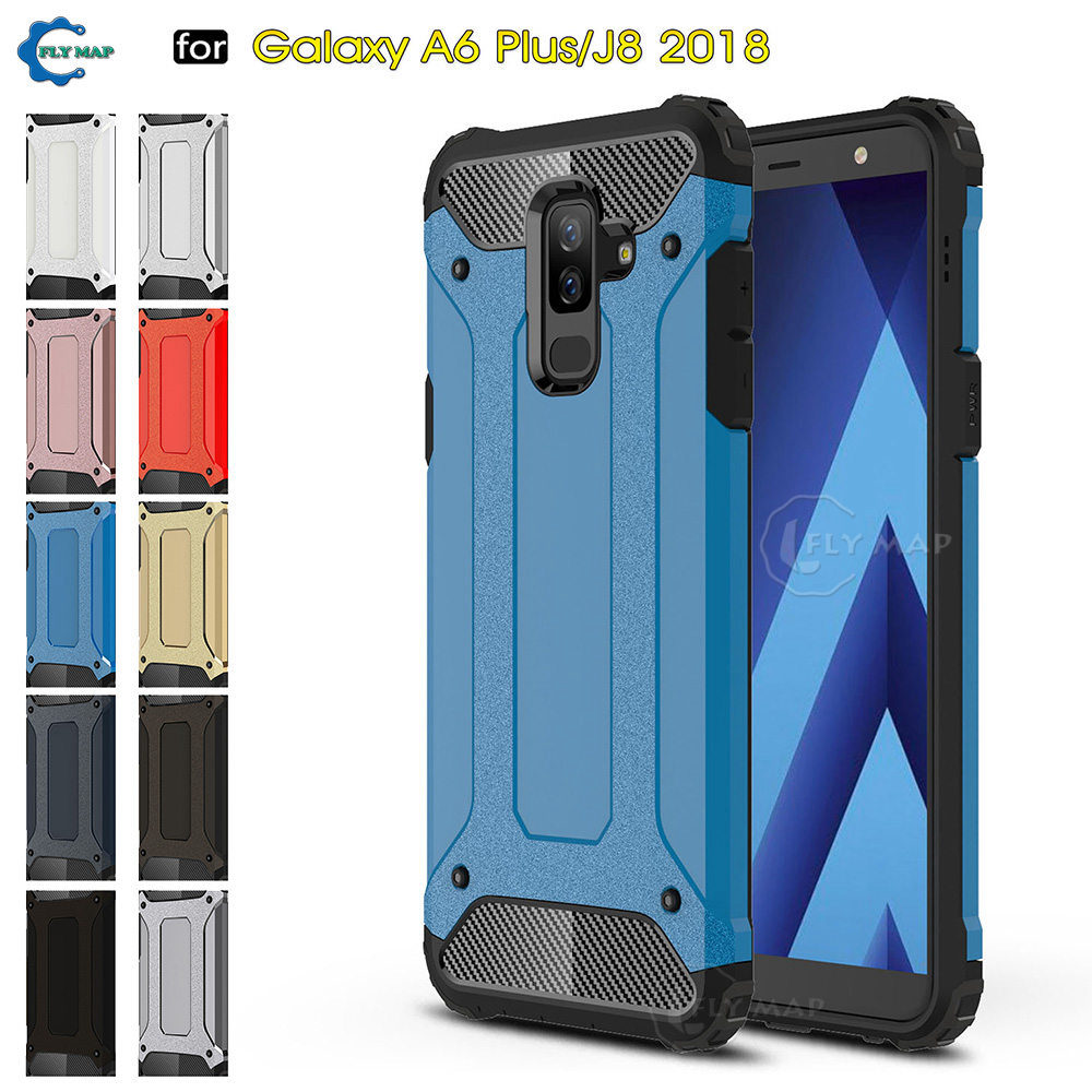 Armor Cover for Samsung Galaxy J8 2018 SM J810 SM J810F DS PC Silicon Phone Case