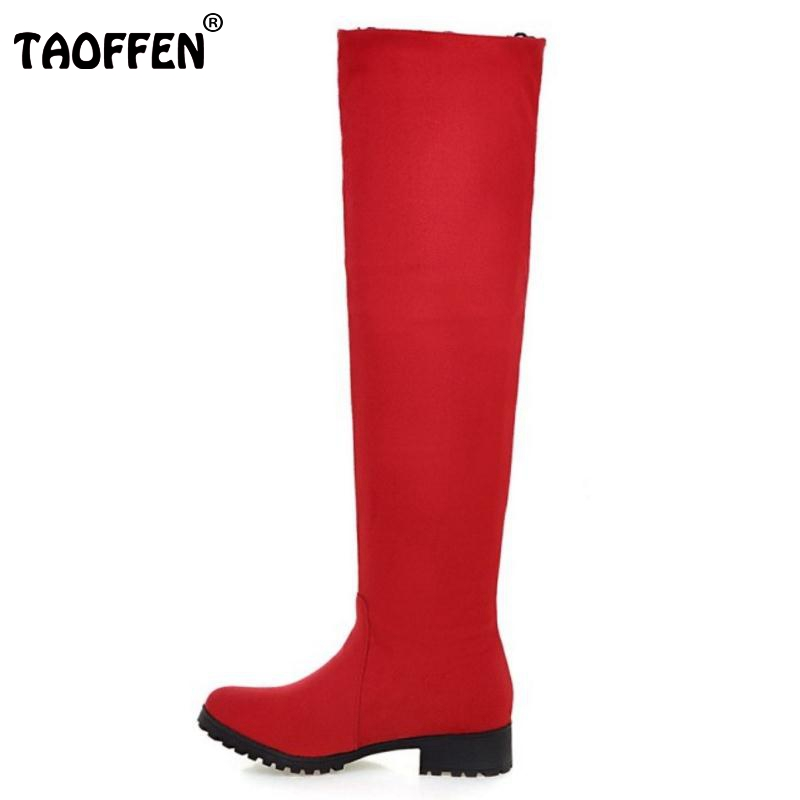 Women Round Toe Over Knee High Boots Sexy Ladies Lace Low Heel Shoes Woman Fashion Autumn Winter Botas Mujer Size 32-50 enmayla winter autumn round toe low heel knee high boots women flats lace up shoes woman rider brown black suede motorcycle boot