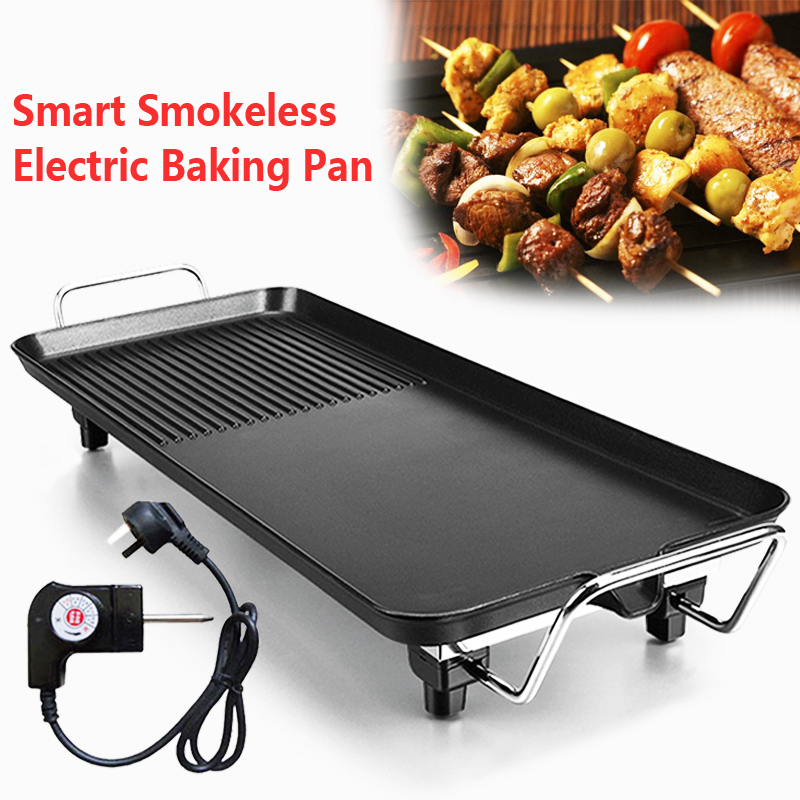 Steel Nonstick Double Grill Indoor Cooking Grills Electric Griddle Gas Sticks Professional 1pc Black Reusable No Stick Bbq Grill Mat Sheet Plate Portable Easy Clean Indoor Electric Bbq Grill