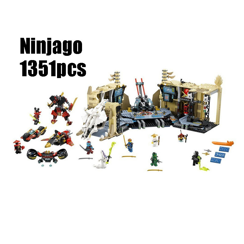 Compatible Legoe Ninjagoes 70596 Lepin 06039 blocks Ninjago Figure Samurai X Cave Chaos toys for children building blocks 0367 sluban 678pcs city series international airport model building blocks enlighten figure toys for children compatible legoe