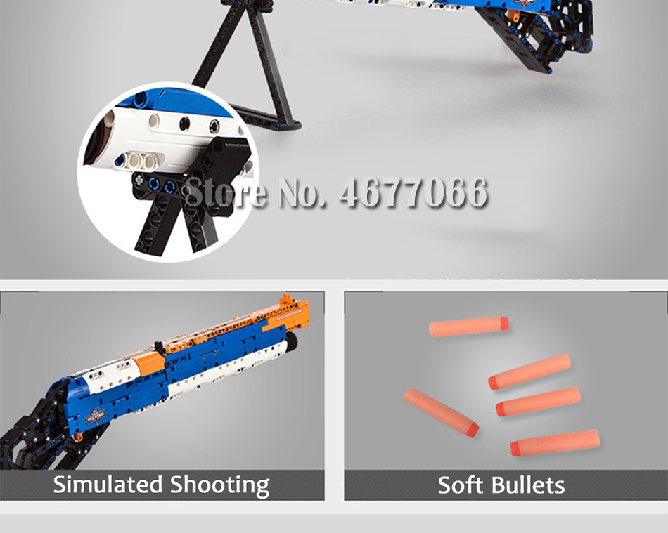 ak47 toy gun toy  gun model 98k gun building blocks bricks educational toys for children boys 21