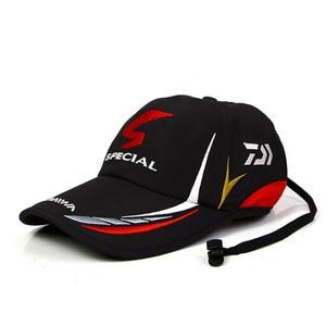 Image 1 - Summer Fishing Daiwa Hat Japanese Japan Sunshade Sport Baseball Fishing Sport Cap Black Special Bucket Fishing Hat