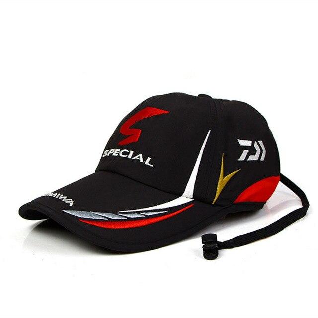 Summer Fishing Daiwa Hat Japanese Japan Sunshade Sport Baseball Fishing Sport Cap Black Special Bucket Fishing Hat