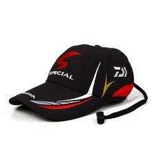 Verão pesca daiwa chapéu japonês japão pára sol esporte boné de pesca esporte preto balde especial chapéu de pesca