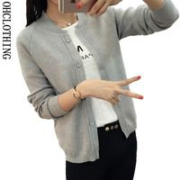 2017 Spring Autumn 9 Color Wool Sweater V Neck Can Not Buckle Cardigan Fashion Wild Female