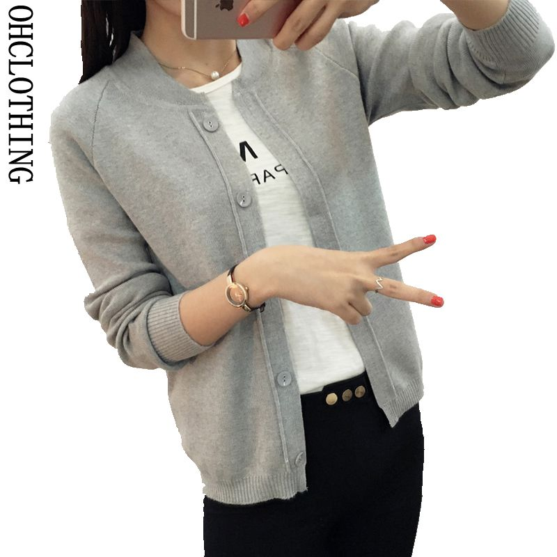 2017 Spring Autumn 9 color Wool Sweater V neck Can not buckle cardigan Fashion wild Fema ...
