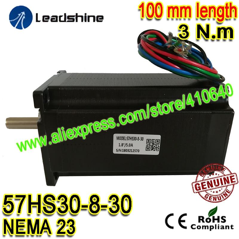 1 Piece Leadshine NEMA23 Stepper Motor 57HS30 8 30 5 A 3 N M Torque 100