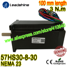 1 Piece Leadshine NEMA23 Stepper Motor 57HS30-8-30  5 A 3 N.M Torque 100 mm Length 4 Wires High Torque Leadshine Step Motor leadshine network drives dm3e 556 series ethercat stepper drives with coe and cia 402 protocols control stepper motor nema23 24
