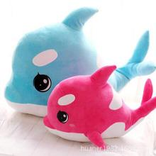 75cm Cute adorable pet big eyes dolphin whale pillow plush toys doll stuffed animal doll birthday gift