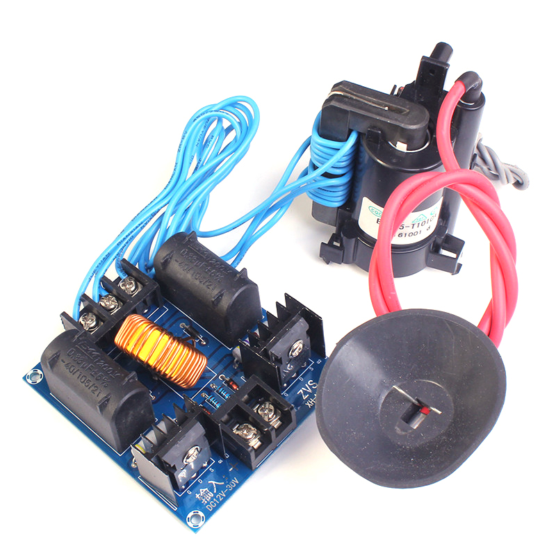 12 300W ZVS Tesla Coil Driver Genrator Board High Voltage Discharge Flyback Generate Module Long Arc 10A