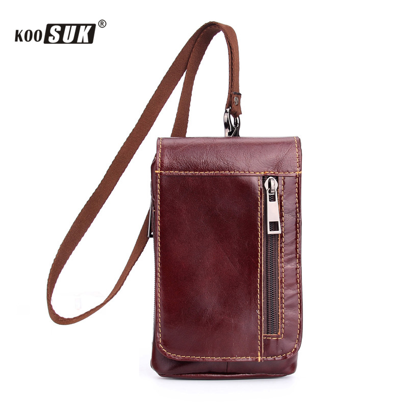 Luxury Retro Universal More Pockets Mobile Phone Pouch Fashion Genuine Leather Belt Clip Holster Wallet Card Cover Bags Case