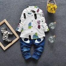 children Cartoon ,SuitMini suit kid clothes boys clothing sets suits kids boy chil dren 2 piece blouse fashion jeans
