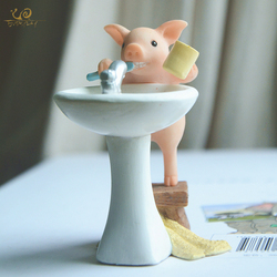 Everyday Collection Cute pig home decoration accessories fairy garden miniature animal figurines car desktop decor birthday gift