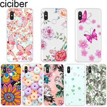 ciciber Flower Butterfly for Xiaomi MI 9 8 A2 A1 6 5 X C S Plus Lite SE Soft Phone Cases for MIX MAX 3 2 1 S Pro PocoPhone F1(China)