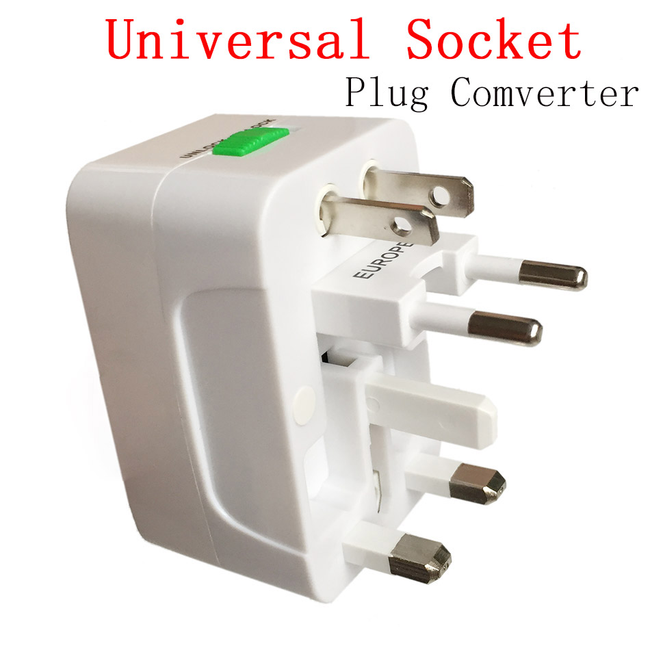 цена на New Universal Adapter Socket Plug Comverter Universal All in 1 Travel Electrical Power Adapter Socket US UK AU EU To China Plug