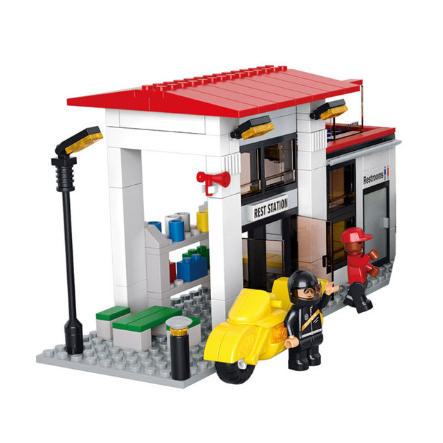 Large Size DIY Truck Building Blocks Cargo Centre Contruction Bricks
