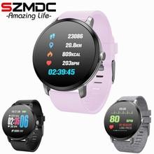 Купить с кэшбэком SZMDC Fitness Tracker Wristband Heart Rate Monitor Smart Bracelet V11 smart watch Blood Pressure With Pedometer Bracelet