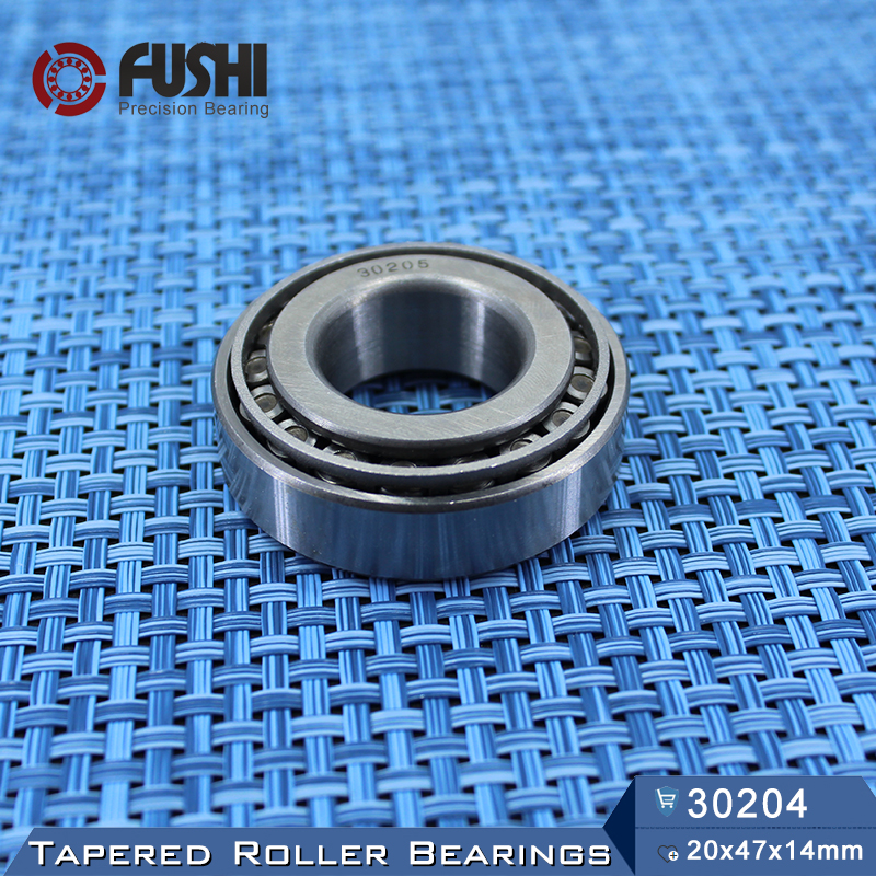 30204 Bearing 20*47*14 mm ( 1 PC ) Tapered Roller Bearings 30204 X 7204E  Bearing nk38 20 bearing 38 48 20 mm 1 pc solid collar needle roller bearings without inner ring nk38 20 nk3820 bearing