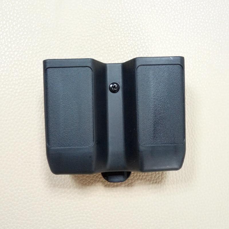 Pilha dupla revista bolsa caso universal pistola mag caixa para colt 1911, beretta m92 m9, sig p226, hk usp, glock 17 19