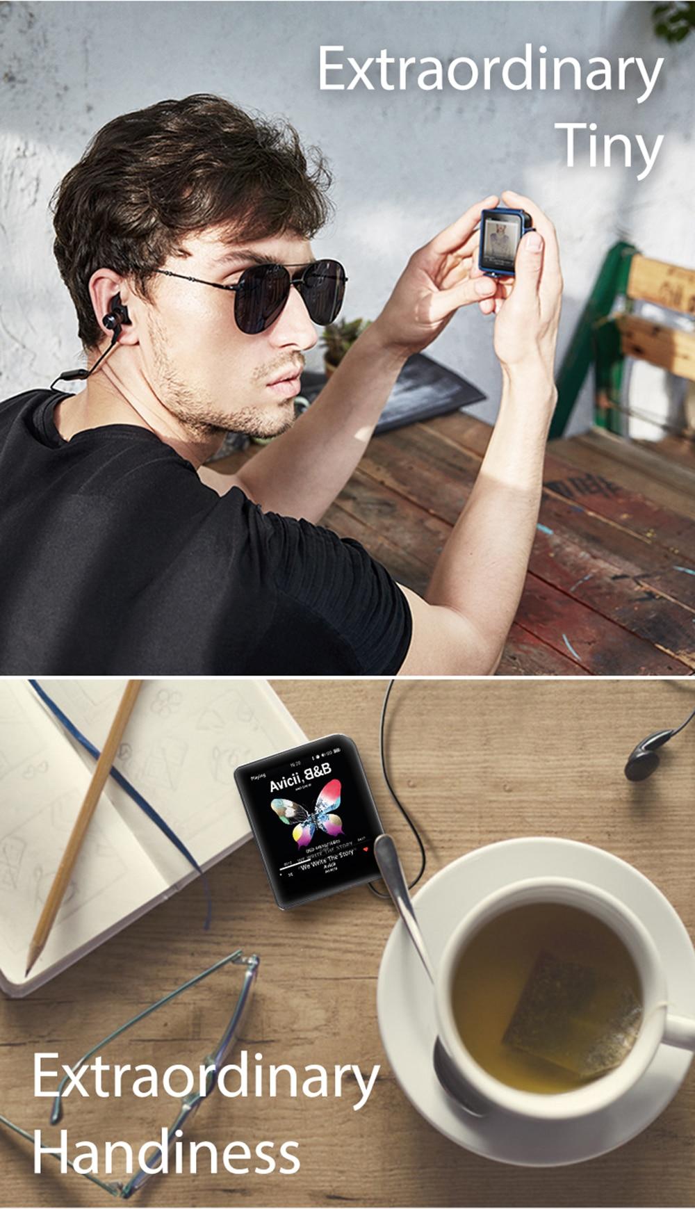 Shanling M1 Bluetooth APTX Mini DAP DSD Lossless Audio HIFI MP3 Portable Music Player ( leather case +screen protective free)
