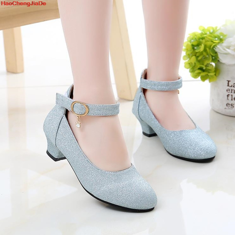 Kids Girls Shoes For Party And Wedding Children'S Leather Shoes Little Girls Fashion Beads Prinsesse Shoes School