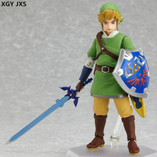 Free Delivery Legend of Zelda Link Action Figure 14cm Great for Collection Nintendo 3DS link Figure Model of toy Ornaments X312