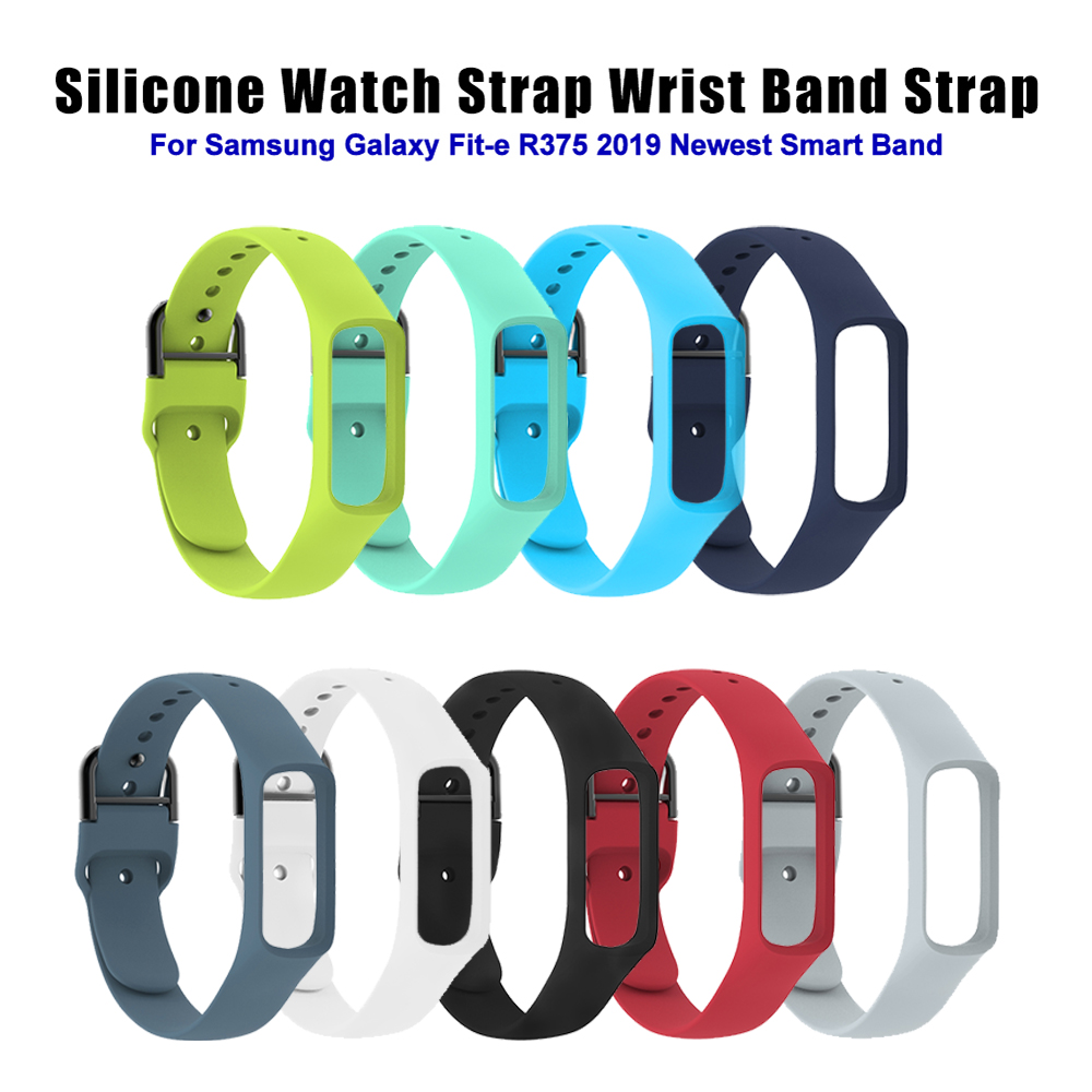 Silicone Strap For Samsung Galaxy Fit-e/R375 Smart Watch Band Smart Bracelet Strap Pedometer Fitness Tracker Wristband Strap