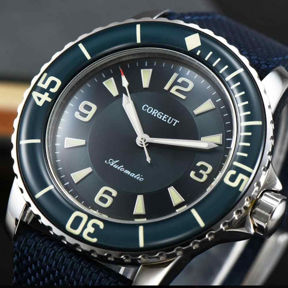 Automatic Watch Men corgeut Luxury Brand Mens Mechanical Watches Male clock luminous Self-Winding Sport Wristwatch