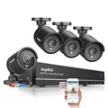 SANNCE 8CH 720P DVR 1080P HDMI NVR CCTV Home Security Camera System 4PCS IR Outdoor 1280TVL Video Surveillance kit