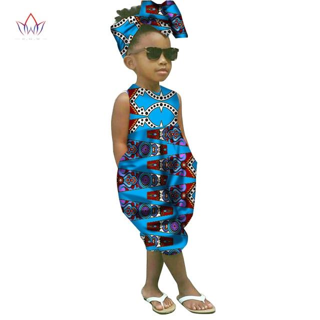 2018 african-clothing-for-children  dashiki Traditional cotton set Matching  Africa Print t Children Summer a set BRW WYT26-1