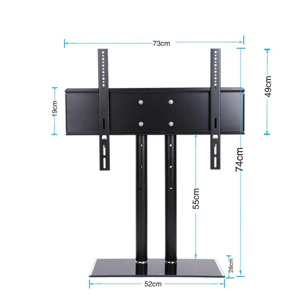 العالمي الجدول حامل تلفاز LCD LED VESA قوس الزجاج الركيزة صالح 26-32/37-55/52- 71 بوصة الخ 40 كجم 60 كجم 90 كجم تحميل