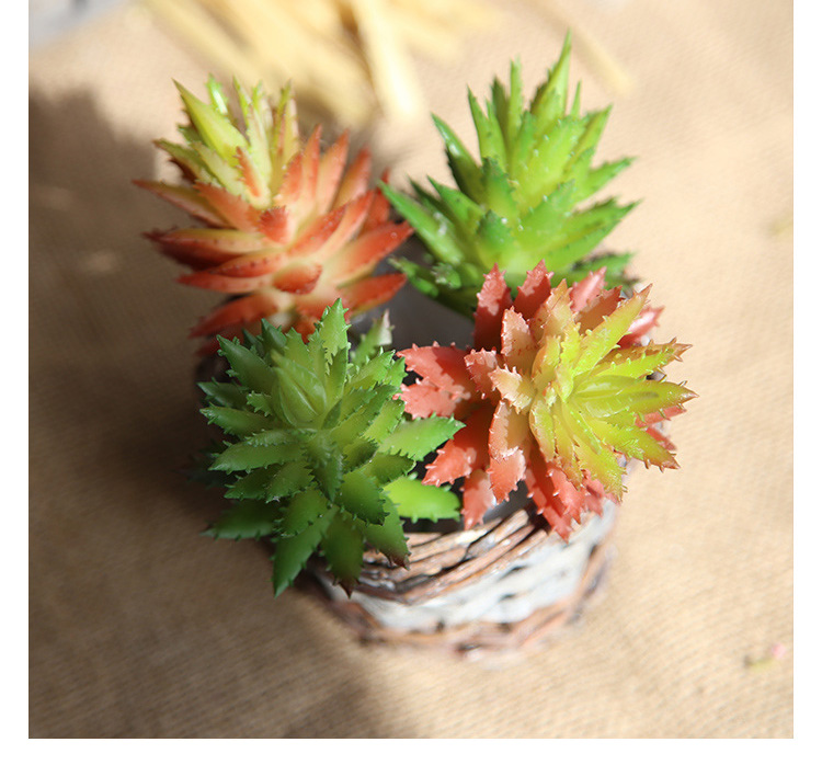 5PCS Artificial Fake Flowers Succulents Aloe Vera Wedding Bouquet Party Decor 2017 European Style New Ornament Fake Flowers
