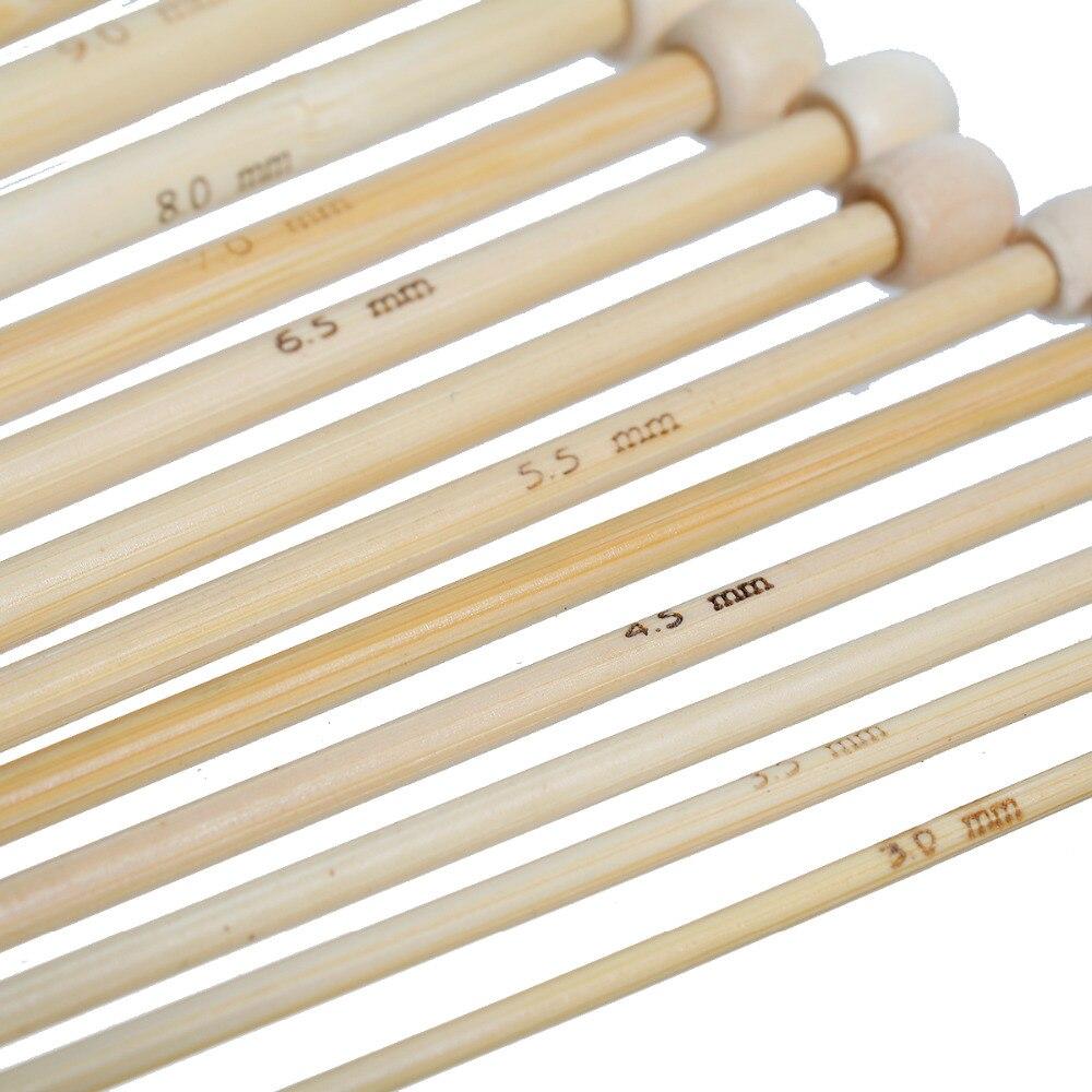 d32408a38a US $6.21 29% di SCONTO|DoreenBeads Colore Naturale Naturale Di Bambù  Singolo Punta Afghani Tunisini Uncinetti Aghi 25.5 cm 25 cm di lunghezza, 1  set ...
