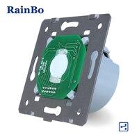 Touch Switch FreeShipping RainBo Manufacturer Wall Switch EU 1 Gang 2 Way Touch Screen Wall Light