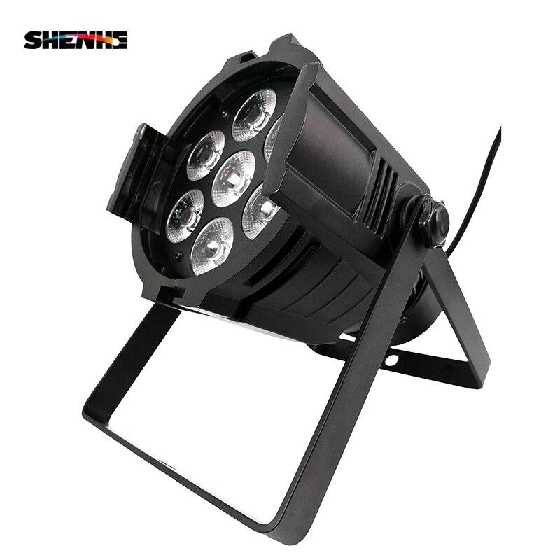 Mini Aluminum alloy LED Stage Lighting 7x18W RGBWA+UV 6in1 Professional DMX512 For Disco DJ Music Party KTV Nightclub Lights