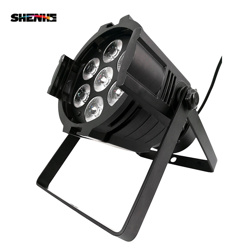 Mini Aluminum alloy LED Stage Lighting 7x18W RGBWA+UV 6in1 Professional DMX512 For Disco DJ Music Party KTV Nightclub Lights
