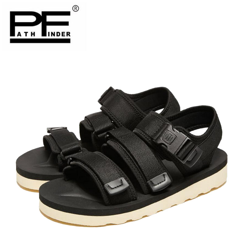 Pathfinder New Men sandals Shoes Summer man soft Breathable Slippers Quick-drying Beach outdoor Waterproof balck Casual Shoes