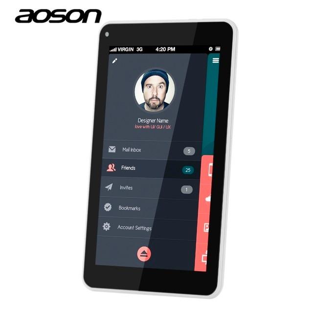Aoson S7 2 Г 3 Г 7 Дюймов DUAL Sim-карты Телефон Call Таблетки Android 5.1 IPS 1024*600 Quad Core 8 ГБ ROM GPS WI-FI 5MP Камера планшетных пк