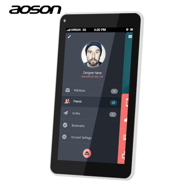 Aoson S7 2 Г 3 Г 7 Дюймов DUAL Sim-карты Телефон Call Tablet Android 5.1 IPS 1024*600 Кач Ядро 8 ГБ ROM GPS WIFI 5MP Камера ПК Таблетки