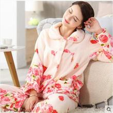 d31d3bb83 Sweet Memory Women Winter soft warm sleep wear Autumn thickness flannel  pajamas set Clearance Sale Promotional