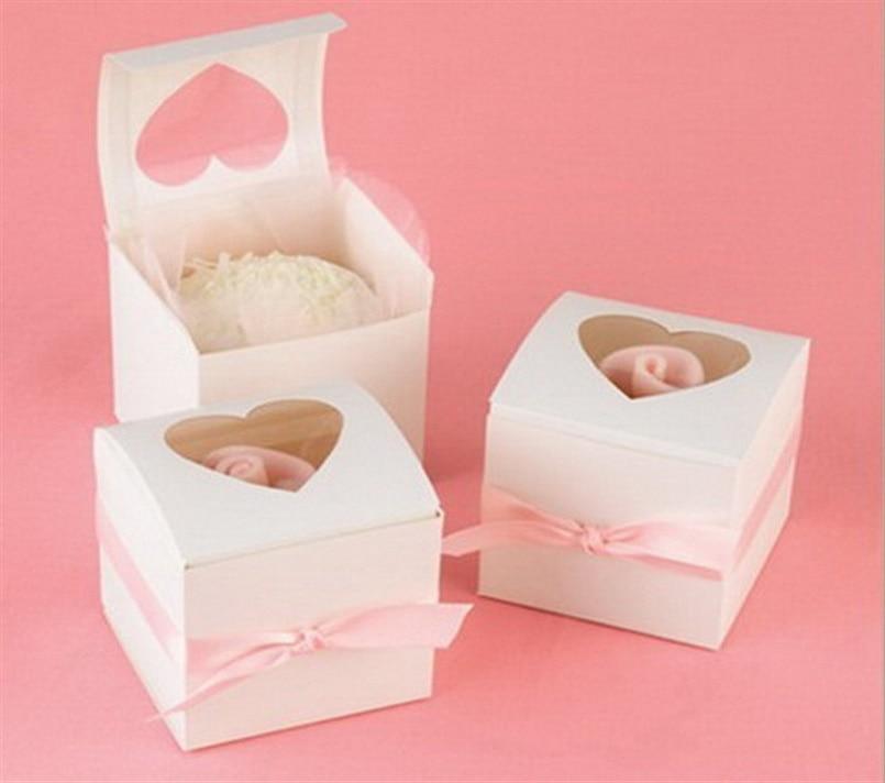 Singling cupcake boxes 6 * 6 * 6cm cajas de pastel de papel blanco y - Para fiestas y celebraciones - foto 6