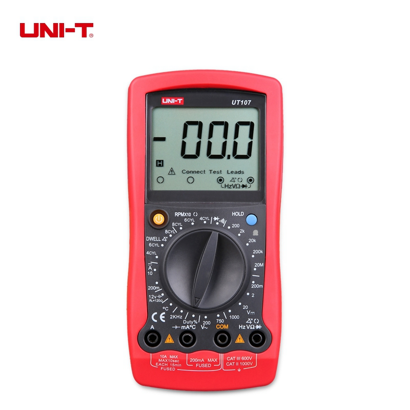 UNI-T UT107 Handheld Automotive Multimeter AC/DC Voltmeter Resistance Frequency Tester Multipurpose Meter uni t multimeter ut105 automotive multimeter ac dc voltage current resistance test meter handheld multimeter digital multimeter