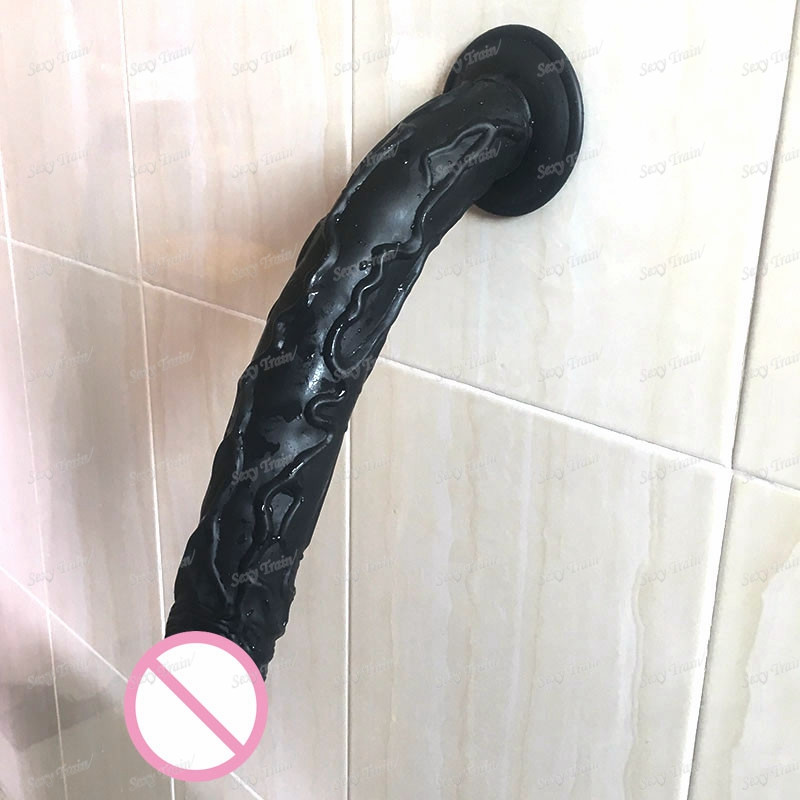 Hot Black Big Realistic Dildo with Suction Cup Super Soft Silicone Horse Dildo Sex Toys for Women Adult Huge Penis Sex Products 16 5 inch long dildo realistic big dildo black huge penis swords shape adult sex products anal sex toys for women sex shop