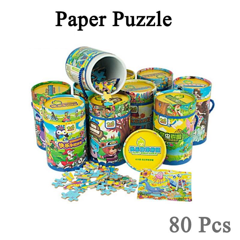 Новинка; Лидер продаж 7 типов 1 шт. головоломки мультфильм игрушка 3D деревянные головоломки Бумага Box головоломки для детей раннего образова...