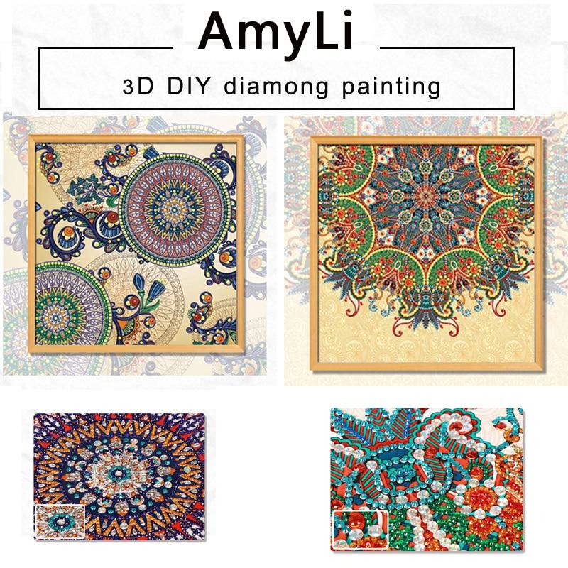 3D,Special Shaped,Diamond Embroidery,Mandala,Rhinestone,5D,DIY Diamond Painting,Cross Stitch,Diamond crafts,Decor,flower,Datura