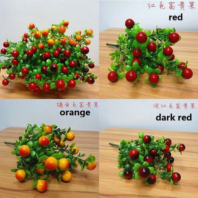18 фрукты украшение цветок искусственный фрукты фото реквизит Искусственные растения для украшения дома свадьба 7z